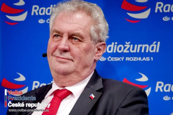 Novým prezidentem ČR bude Miloš Zeman