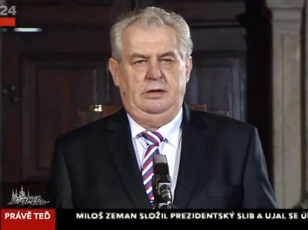 Inaugurace a prezidentský slib Miloše Zemana
