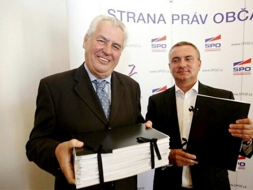 Miloš Zeman má nejvíce podpisů ze všech prezidentských kandidátů