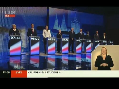 Velká předvolební superdebata České Televize
