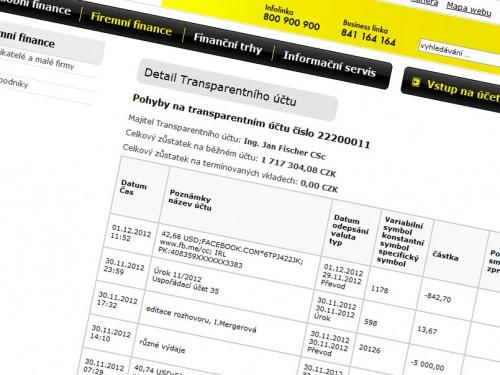 Jsou transparentní účty transparentní?