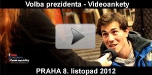 Video ankety a průzkumy k volbě prezidenta ČR - Praha