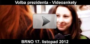 Video ankety a průzkumy k volbě prezidenta ČR - Brno